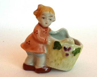 Vintage Porcelain Figurine Girl Occupied Japan