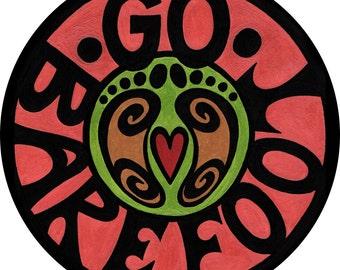 go barefoot 4 inch sticker