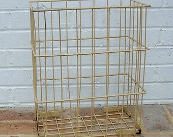 Antique Vintage Wire Basket Farm Basket Industrial Basket