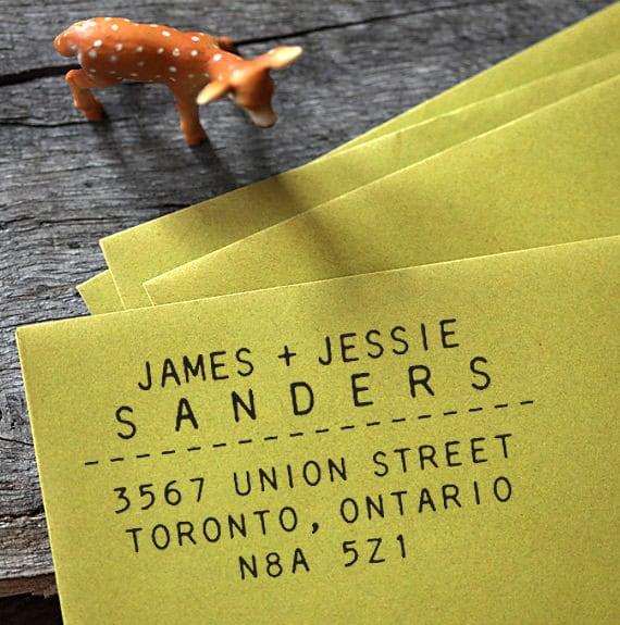 Self Inking Address Stamp, Address Stamp, Custom Address Stamp, Return Address Stamp, Personalized Gift - 1006