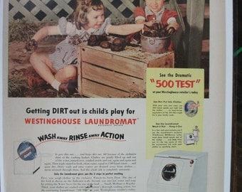 120 Westinghouse Washer Ad - 1952