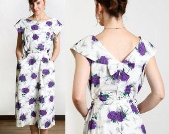 ON SALE Purple Rose of Cairo 1960s Dress