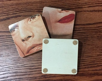 J Geils Band recycled Love Stinks album cover wood coasters with  warped record bowl