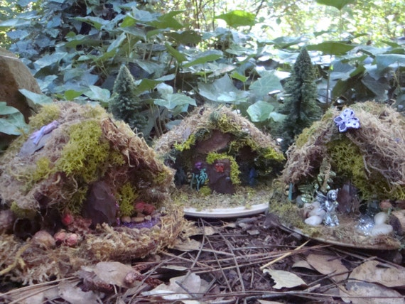All Natural Village 3 Fairy House Kits Deluxe W Glue