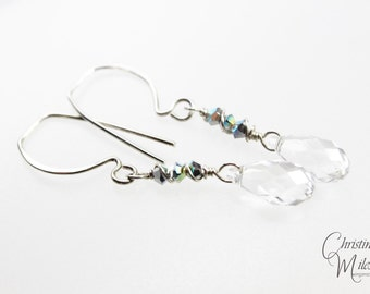 Crystal Aurore Boreale AB  Swarovski Jewelry Drop Earrings Special Price
