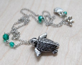 Majestic Sea Turtle Necklace | Sea Turtle Pendant Necklace | Hawaii Ocean Jewelry