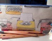 Zippered and Lined Pencil Pouch - Type by Wyndham Fabrics