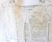 VENICE ROSE bridal lace top LOOSE fit bolero wedding shrug ivory lace top ivory lace blouse bridal bolero jacket