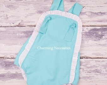 SALE Baby Girl Clothes, Toddler Girl Clothes, Sunsuit Bubble Romper with Ruffles Spring Summer Beach Baby by Charming Necessities