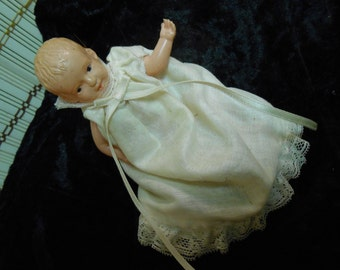 Celluloid Baby Doll>Miniature Dollhouse Size