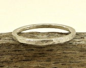 CIJ Sale Free Shipping Ring Band Fine Silver - 14G, Simple Silver Ring Band, Eco Friendly Jewelry, Gifts for Her