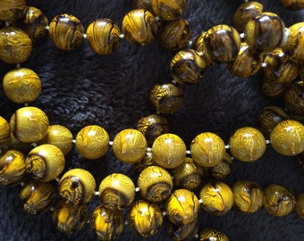 Vintage plastic bead necklace long
