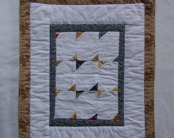 Kansas Troubles Mini Quilt or Mug Rug - Color in the Corners #3