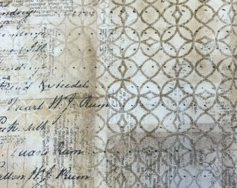 Tim Holtz Fabric by the Yard - Wallflower - Ledger in Multi - Quilter's Cotton