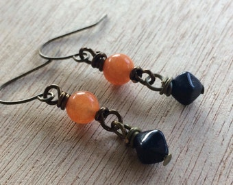 C177 Auburn Tigers Earrings
