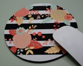 Buy 2 FREE SHIPPING Special!!   Mouse Pad, Fabric Mousepad   Piper Floral