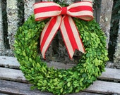 Preserved Boxwood Wreath - Christmas Wreath - Boxwood - Wreath - Christmas Decoration - Door Wreath