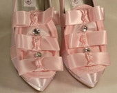 Special Size 6 - Princess Marie Antoinette Pink Ruffle Bow Heels