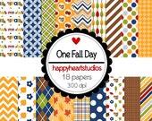 Digital Scrapbook  OneFallDay-INSTANT DOWNLOAD