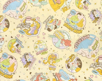 1 meter Disney Fabric Disney Princess fabric