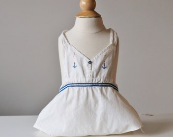 1930s Sailor Sunsuit~Size 3 Months