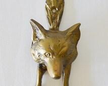 Popular items for fox door knocker on etsy - Wolf head door knocker ...