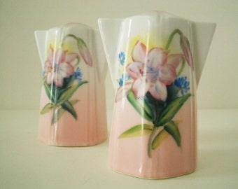 Vintage Hand Painted Porcelain Salt and Pepper Shakers Japan