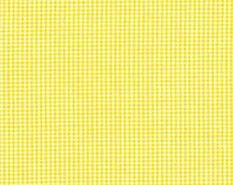 Clearance FABRIC Classic Retro YELLOW Small GINGHAM Check 1/2 yard