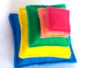 SALE Stacking pyramid game-educational learning game busy bags  quiet books activity book