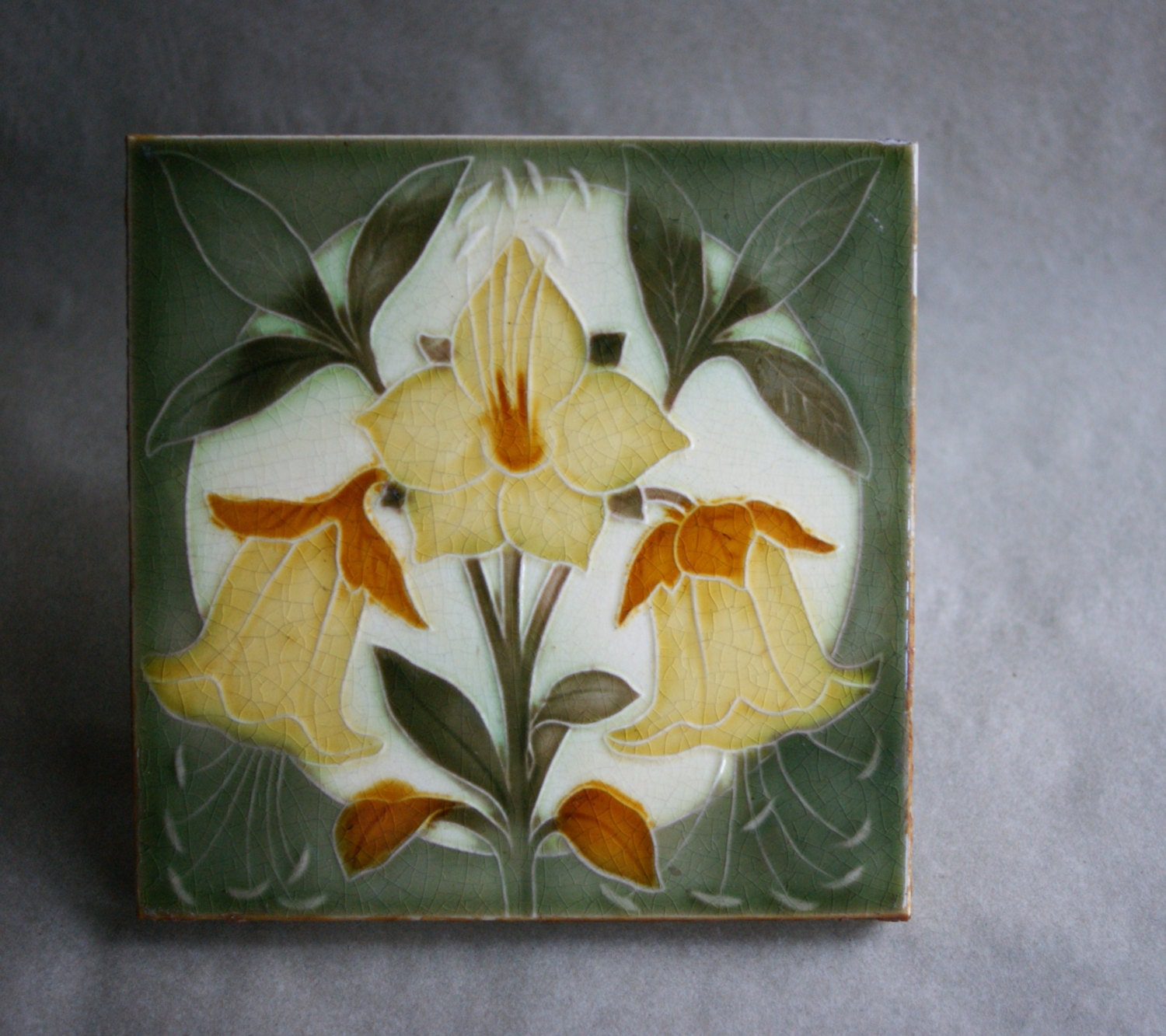Antique pilkington arts and crafts period art pottery tile for Arts and crafts tiles