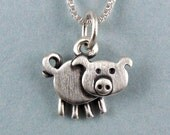 Tiny pig necklace / pendant