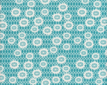 Free Spirit Fabrics Denyse Schmidt Ansonia Honeycomb Lace in Mossy- Half Yard