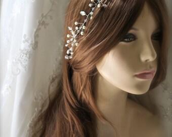 Bridal crystal hair vine wedding sparkle hair vine bridal accessory hairpiece  Crystal headpiece, wedding headband