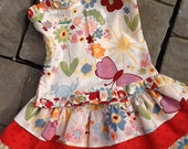 Fanciful Spring corset top and ruffled tier skirt etsykids team