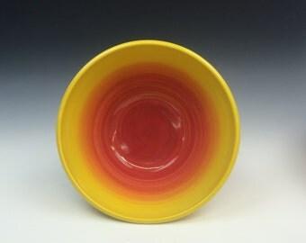 Yellow Sunburst Serving Bowl