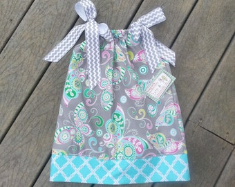 Pillowcase Dress -  Girls Spring Dress -  Butterfly Dress - Birthday Dress - Toddler Girl Dress -  Groovy Gurlz