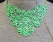 Hand dyed applique trach stoma cover necklaces, various colors with matching beads