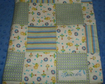 Swaddling Blanket Receiving Blanket Swaddler   - Soft Flannel Approximately 43 in X 39 in