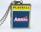 Annie, Theater Playbill, Broadway Musical, Little Orphan Annie, Daddy Warbucks, Tomorrow, Tony Award, Hard Knock Life, Playbill Necklace