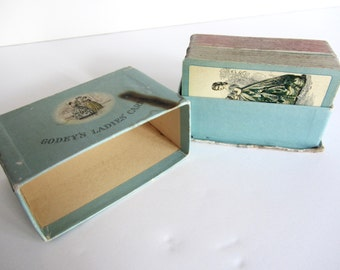 Vintage 1930s Godey's Ladies' Cards Boxed Two Decks
