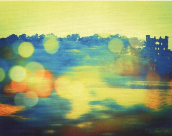 Digital print on canvas- Bannerman Castle on the Hudson River by Gretchen Kelly