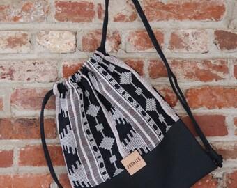 Pan&Tea Aztec Drawstring Backpack