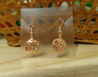 Celtic design copper earrings