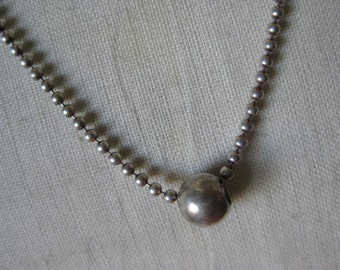 Bead Sterling Necklace Vintage Chain Silver 925 Italy Y