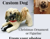 Dog Pet Custom from Photos Figurine Cake Topper Christmas Ornament Porcelain
