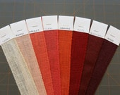 9 inch PEACH Orange CORAL Red BURGUNDY or Ivory Burlap Ribbon
