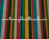 Fun Colorful Stripe - Vintage Fabric New Old Stock Vertical Rainbow