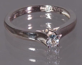 Aquamarine Handset in .925 Sterling Silver Ring  -  NOW on SALE  -  Fast Free Shipping