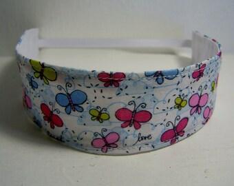 Girls Handmade Fabric Headband Heidi Grace Butterflies