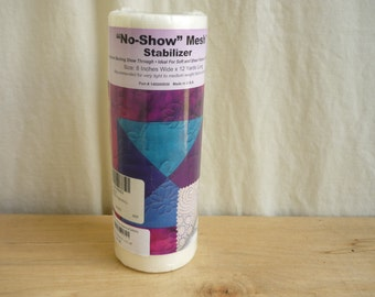 No Show Embroidery Stabilizer 8 inch by 12 Yard Roll, sewing, roll of fabric stabilizer